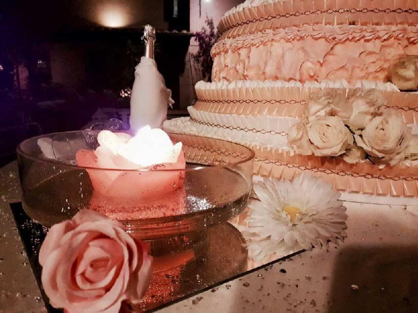 torta nuziale particolare aurora catering