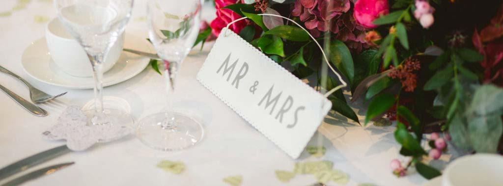 allestimento matrimonio mr e mrs
