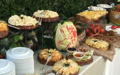 Idee originali per il buffet di matrimoni ed eventi